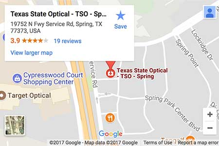 texas state optical spring map